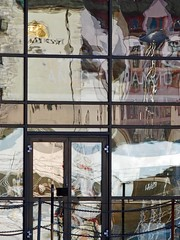 My home town (annechr) Tags: abstract reflection cityscape lesund brosundet speiling