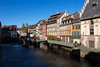 Strasbourg 11 Nov 2015 (JamesPDeans.co.uk) Tags: windows sun france reflection mill weather architecture buildings river landscape europe commerce power sunny bluesky canals strasbourg alsace locks mills halftimbered waterpower colourfulbuildings allsace crowsteppedgables