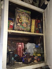 Still magically delicious (neilsharris) Tags: food house chicago abandoned cabinet urbanexploration luckycharms urbex timecapsule