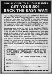 Get your 50¢ back the easy way! (Tom Simpson) Tags: vintage advertising ad 1966 advertisement 1960s coupon vintagead famousmonsters