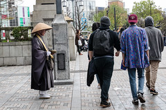 Yoyogi exit (Laura E. Downs) Tags: japan tokyo yoyogipark buddhistmonk