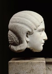 Barbia Orbiana, head of Roman statue (marble), 3rd century AD, (Muse du Louvre, Paris) (mike catalonian) Tags: sculpture female head marble ancientrome