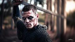 Betrayal (anderswotzke) Tags: portrait cosplay sony battle medieval swing warcraft hero sword adelaide knight warrior villain goons southaustralia chainmail gameofthrones cameronjames skyrim anderswotzke furyfingers