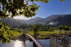 Siran Valley, Mansehra (Shehzaad Maroof Khan) Tags: bridge pakistan summer sun nature river countryside village smoke valley greens fields dadar mansehra siran shinkiari