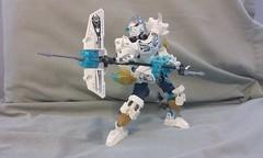 Kopaka and Melum: Champions of Ice (ohlookitsanartist) Tags: snow ice gun lego champion master creature bionicle spear scythe 2016 2015 uniter kopak melum