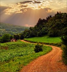 Countryside 01 (Katarina 2353) Tags: sunset summer mountain film landscape countryside nikon serbia srbija kostajnik katarinastefanovic katarina2353