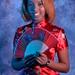DSC_0264 Somali Lady Portrait Red Chinese Silk Mandarin Dress  Shoreditch Studio London