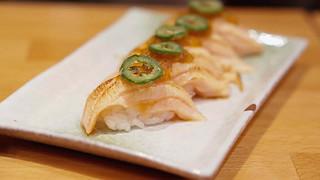 Off the Menu: Torched Salmon w/ Serrano Chili