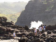 a little spray (dolanh) Tags: hawaii maui nakaleleblowhole kahekilihighway