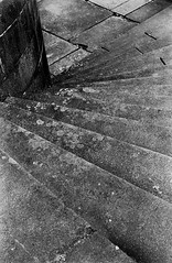 Stone Steps (Man with Red Eyes) Tags: slr film monochrome analog blackwhite preston hp5 nikkor ilford millerpark accumulation nikonf6 f6 homedeveloped 50mmf12 silverhalide 73degrees filmisnotdead v850 td201 anchelltroop a3minsb3mins