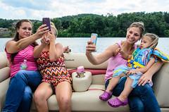 Selfies! (Stacey Conrad) Tags: river boat nikon pa pontoon susquehannariver selfie westbranch lockhaven d7000