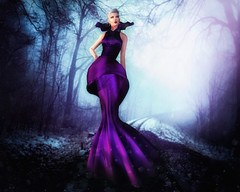 Miss Virtual Diva - Italica15 Resident (italica15) Tags: wood orchid fashion purple fantasy secondlife virtual second gown miss couture