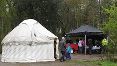 0413 fx2 Cook house and yurt (Andy in relax mode) Tags: cafe yurt pergola yyy communitygroup maydayevent llynparcmawr 20160501