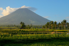 Green and blue. Mt Mayon (Laura Jacobsen) Tags: volcano philippines mtmayon legaspi legazpi mayonvolcano