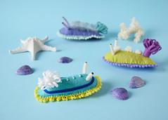Sea Slugs (hine) Tags: aquarium handmade craft felt squid  octopus osaka seacreature seaslug   soloshow  ranbu hinemizushima  helloartmachi