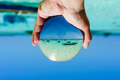 Grabbing the summer! (Hendraxu) Tags: blue sea summer sky beach water ball island boat sand crystal teal philippines virgin bohol panglao islandhopping
