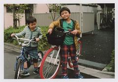 insta099 (sudoTakeshi) Tags: film japan kids tokyo child kodak brother filmcamera portra exakta  kodakfilm carlzeiss  nezu tessar  kodakportra400 ihagee kodakportra  carlzeisstessar exaktavx1000 bicyicle exaktavx tessar50mm