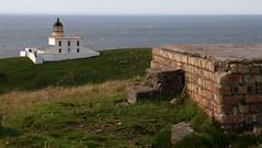 Stoer Lighthouse, Assynt (milnefaefife) Tags: sea lighthouse grass landscape coast scotland highlands bricks cliffs hills worldwarii ww2 moor sutherland defences moorland stoer assynt northwesthighlands pointofstoer stoerhead stoerlighthouse ww2remains ww2ruins
