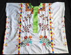 Amatlan de los Reyes Huipil Mexico (Teyacapan) Tags: flowers clothing mexican textiles veracruz ethnic embroidered huipil nahua huipiles amatlandelosreyes amateca