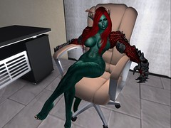 Executive Demoness (sanctussinful) Tags: nude dragon tail horns bdsm secondlife scales demon mutant demonic mistress mutation dominatrix greenskin wyrm dragonkin draconic dragoness
