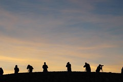 Silhouette in early morning (daveynin) Tags: sky silhouette sunrise nps photographers deathvalley zabriskie visitors