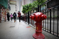 the flow (gavingmb) Tags: street red urban hydrant landscape nikon outdoor soho central hong kong fx streetscape d610 midlevelescalators