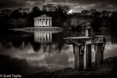 The Folly and Sluice Gate (Scrufftie) Tags: bw monochrome canon landscape mono blackwhite chilterns buckinghamshire style nationaltrust countryhouse lightroom westwycombe canonef24105mmf4lisusm photoshopcc canon5dsr