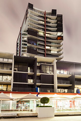 Arkley - Docklands (Bacoon) Tags: colour building architecture night docks canon nightlights nightshot newquay australia melbourne victoria architectural docklands 3008 nightimage arkley howardarkley newquaypromenade mabcorporation