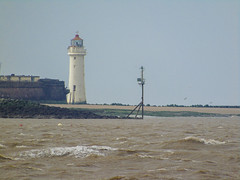 New Brighton Lighthouse (Jymothy) Tags: bird water ferry liverpool river waterfront liver mersey merseyside