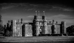 Herstmonceux Castle (Celtic-Wanderer) Tags: blackandwhite bw building castle monochrome landscape sussex mono countryside nikon eastsussex herstmonceux buildingsarchitecture herstmonceuxcastle d5000 statelybuilding