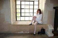 LONDON_005459 (Kira Dede, please comment my photos.) Tags: london stockings lingerie upskirt crossdresser 2015 kirad kiradede