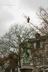 Sweet Brussels (Natali Antonovich) Tags: brussels sculpture bird nature architecture belgium belgique belgie sablon dezavel sweetbrussels