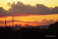 Atardecer Puente Cautn (Constanza Romero L.) Tags: chile bridge autumn sunset naturaleza nature clouds landscape puente atardecer sony paisaje nubes otoo antena alpha antenna temuco sonyflickraward