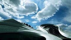 Grand Theatre (katushang) Tags: china city urban cloud building heilongjiang architecture daylight spring nikon  dslr fareast harbin dx haerbin superwideangle 2016   samyang d5100 samyang14mmf28 nikond5100 d5100 fxlensondxcamera fullframelensoncropsensor fxlensonadxcamera