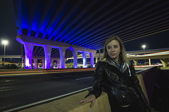 IMG_2354 (CassinStacy) Tags: street new city light people urban night mexico evening highway bokeh albuquerque freeway fe sante