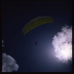 Cresent Chair (LunaliteSBC) Tags: sky color 6x6 film clouds fuji australia slide victoria velvia transparency filmcamera paraglider fujivelvia50 bronicas2a colourfilm filmphotographyproject