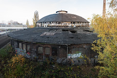 Decayed (Francesco Moccia) Tags: sunset berlin station train germany ubahn decayed francesco pankow 10faves moccia