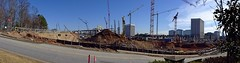 Continued Construction / SunTrust Park (steveartist) Tags: buildings panoramas officebuildings cranes machines constructionsites mariettaga suntrustpark swedishcranes phototoaster sonydscrx100