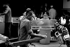 Pune street (manjiriaphale) Tags: poverty life road street india man blackwhite indian together journey change strong cart society hardwork pune