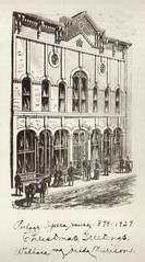 Empire Opera House Exterior, Engraving