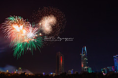 Ho Chi Minh City 's fireworks New Year 2016 (DuVi Nguyen) Tags: building architecture landscape cityscape heart fireworks shaped vietnam saigon hochiminhcity newyeareve happynewyear bitexco newyear2016 happynewyear2016