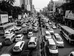 Metropolis of bangladesh (Aranya Ehsan) Tags: life street city urban bw white monochrome town capital lifestyle dailylife bnw struggle