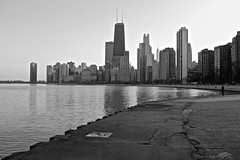 Viewpoint (ancientlives) Tags: travel winter usa chicago architecture lights evening illinois downtown fuji streetphotography saturday lakemichigan lakeshore sat february 2016 23mm lakefronttrail fujix100s