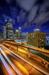 Traversing The Veins (Brad Truxell) Tags: city longexposure lights pittsburgh lighttrails hdr 412 sigma1020mm nikond7000