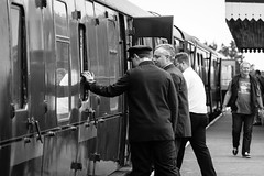 Fixing the door (technodean2000) Tags: uk wales photo nikon weekend south wwii 1940s ww2 brecon lightroom enactment blaenavon d610