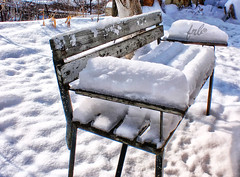 Bench with snow (fr.bastianello) Tags: winter snow nature sunshine bench