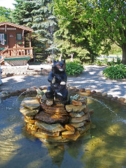 OH Charm - Bear Fountain (scottamus) Tags: bear ohio water fountain charm holmescounty guggisbergcheese