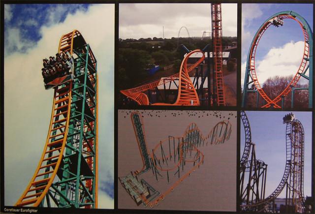 An unused rollercoaster story board