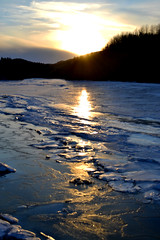 Ice and fire (vaudronromain) Tags: sunrise soleil coucher national qubec neige arbre parc froid saintlaurent marche feu glace bic bras rimouski fleuve