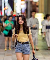 Evening (Light J) Tags: street portrait woman color cute girl beauty japan canon tokyo pretty candid 135mm 6d tkyto chku